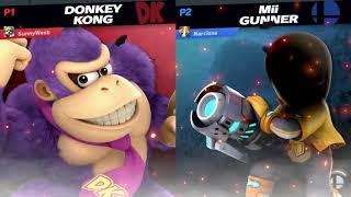 Narcissa (Mii Gunner) vs SunnyWeeb (Donkey Kong)