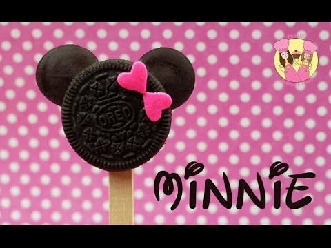 MINNIE MOUSE oreo pops - Cute disney mickey or minnie cookie pops