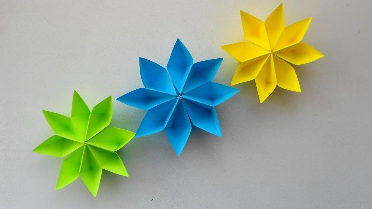Цветок из бумаги на подарки 820