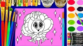 Coloring Pages Roses Book Videos For Children Learn Colors Kids