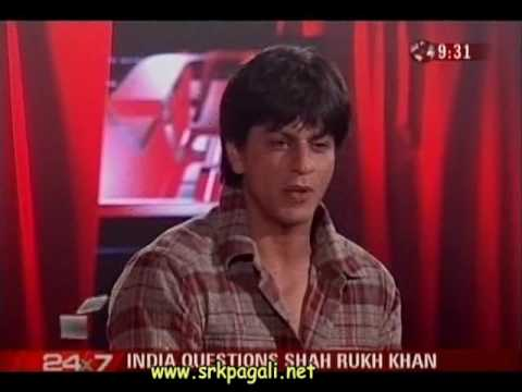Shahrukh Khan talks about smoking & Don on India Questions Part 1 - 2006
