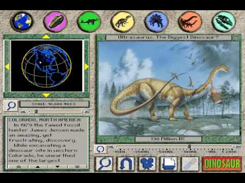 3-D Dinosaur Adventure Review MS-DOS/Packard Bell Version Part 1