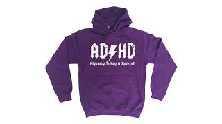 123t  ADHD Highway To Hey A Squirrel - HOODIE Funny Christmas Casual Birthday Hoody