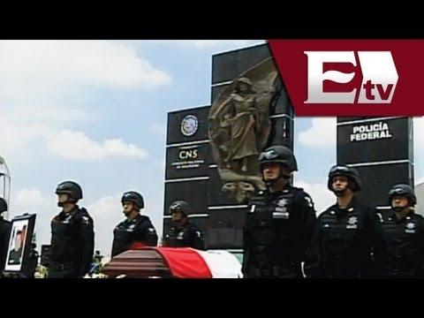Rinden homenaje a los elementos de la Policía Federal que fallecieron en el cumplimiento de su deber