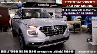 Hyundai Venue SXO Top Model In Depth Review with Features,On Road Price | Venue Top Model
