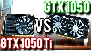 NVIDIA GTX 1050 vs 1050 Ti - Brother VS Titanium Brother!