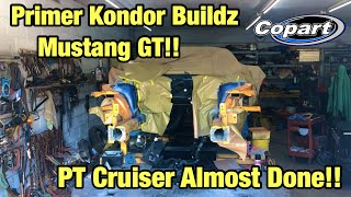Primering Frame Rails Kondor Buildz Totaled Wrecked 2018 Ford Mustang GT From Copart, and Pt Cruiser