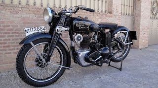 Arrancamos una Royal Enfield Modelo J de 1936