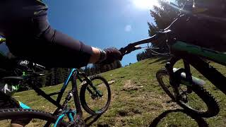 Crazy ride YT Capra and Jeffsy In Cindrel Mountains