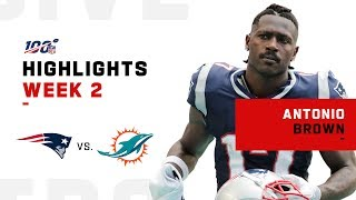 Antonio Brown's First Game as a Patriot | 2019 NFL Highlights