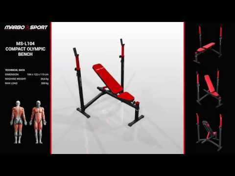 Marbo Sport Compact olympic bench MS-L104