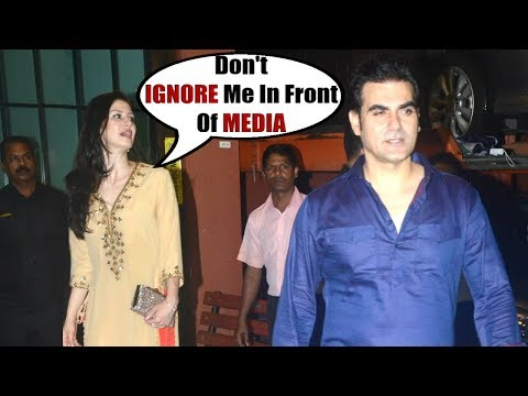 Salman Khan Brother Arbaaz Khan IGNORES His New GIRLFRIEND In Front Of Media At Ayush Eid party 2018