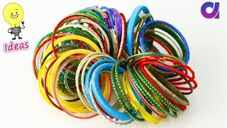 How to reuse old bangles at home   Best out of waste   Artkala 360