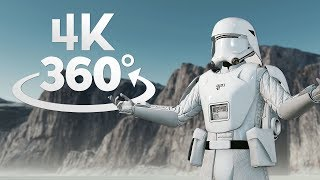 The Last Jedi Crait 360° Video in 4K! Star Wars Battlefront II