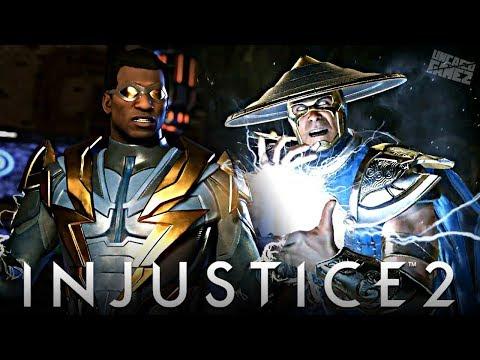 Injustice 2: Raiden & Black Lightning Reveal Trailer!!