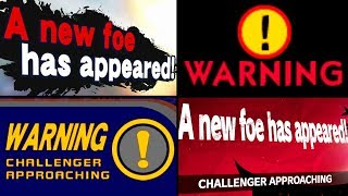 Super Smash Bros Evolution of CHALLENGER APPROACHING Battles 1999-2018 (N64 to Switch)