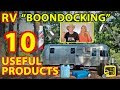 """For Beginners: 10 Useful RV """"BOONDOCKING"""" / DRY CAMPING Products"""