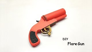 How to make Flare Gun From Cardboard - Toy that works