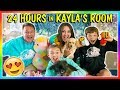 24 HOURS IN KAYLAS BEDROOM! | We Are The Davises