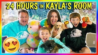 24 HOURS IN KAYLA'S BEDROOM!   We Are The Davises