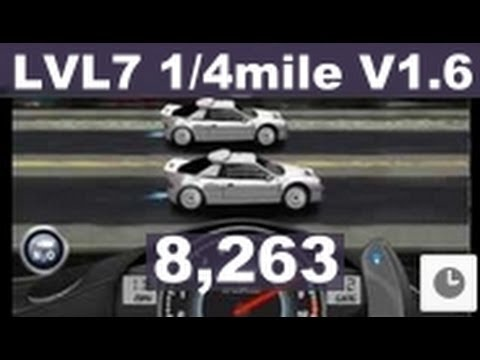 Drag Racing level 7 Ford RS200 Evolution 1/4 mile tune setup V1.6