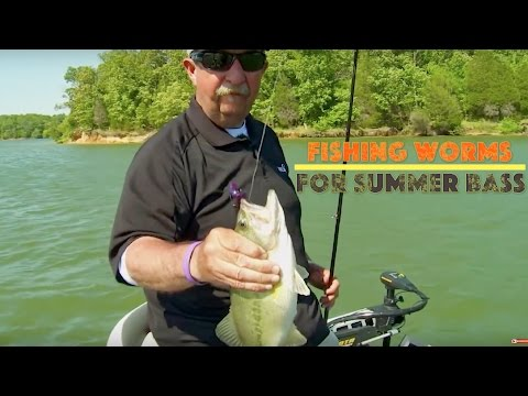 Fishing A Big 10-inch Worm For Summer Bass video