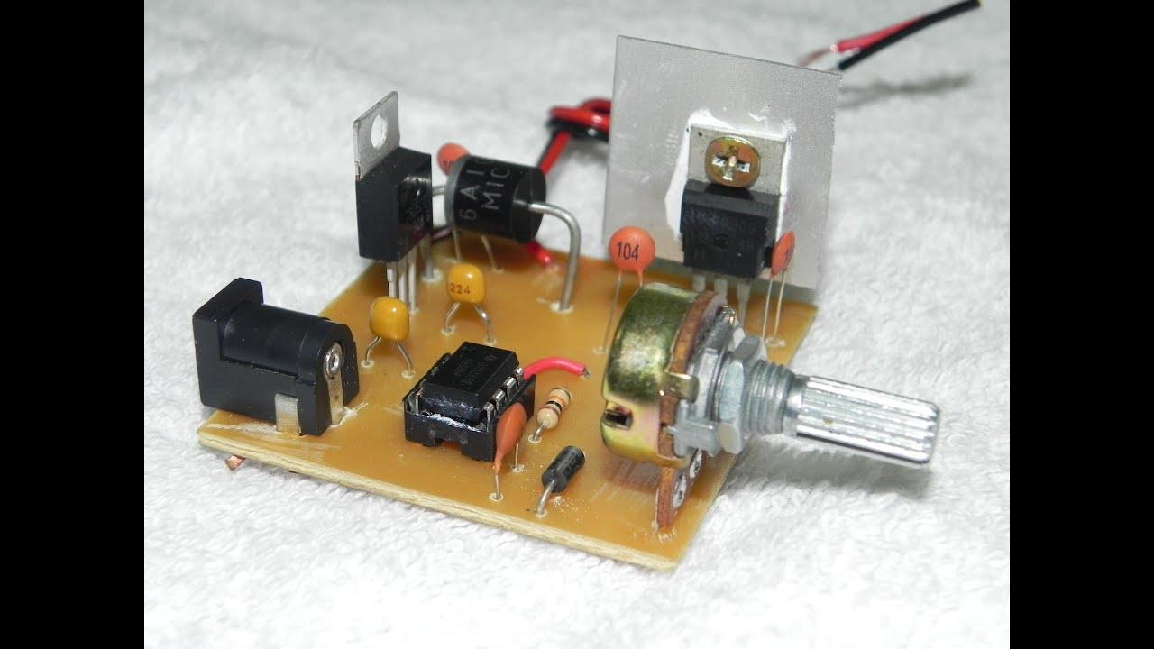 Control de velocidad de un motor DC por luz - Panama