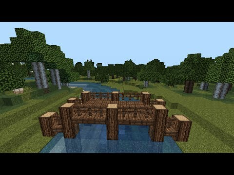 How To Build A Wooden Bridge In Minecraft
