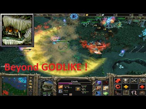 DotA 6.81d - Sand King, Crixalis Beyond GODLIKE !