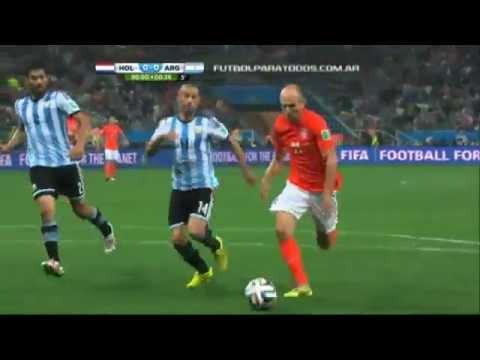 Un cierre salvador de Mascherano Argentina vs Holanda Mundial Brasil 2014