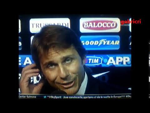 Juventus Genoa 2 0 Conte discussione polemica a Sky dopo la partita - Conte, angry with journalists