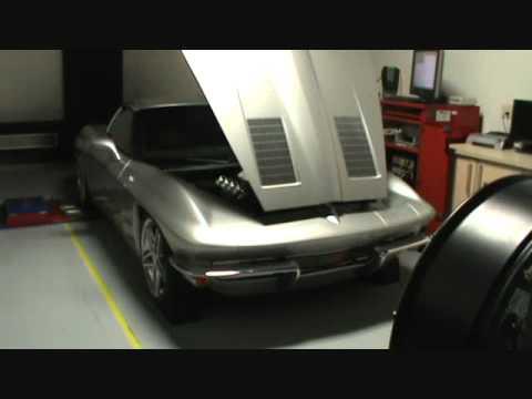 Modern 63 Split Window Corvette on the Dyno after RDP Motorsport Upgra