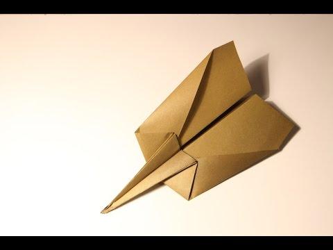 """Оригами.  Самолет из бумаги """"Стилет"""" (летающий самолет)"""