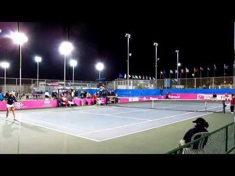 Fed Cup: Great Britain vs Austria - Elena Baltacha match point against Tamira Paszek