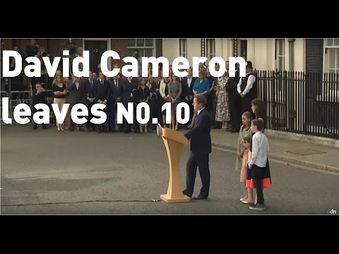 FULL SPEECH: David Cameron leaves No 10  for the final time