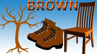 Brown Song For Children | Brown Tree Trunk, Chair, Cookies And Shoes | Learn Colors For Kids
