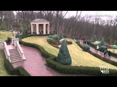 Ukranians Gather at Ousted President Yanukovych's Home