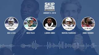 UNDISPUTED Audio Podcast (01.04.19) with Skip Bayless, Shannon Sharpe & Jenny Taft | UNDISPUTED