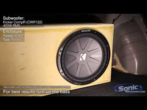 Kicker CompR Subwoofer Demo   CWR122 Bass Test