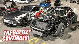 Leroy BATTLES His Stick Shift BFF in Bristol (7 Second 2JZ 240sx)