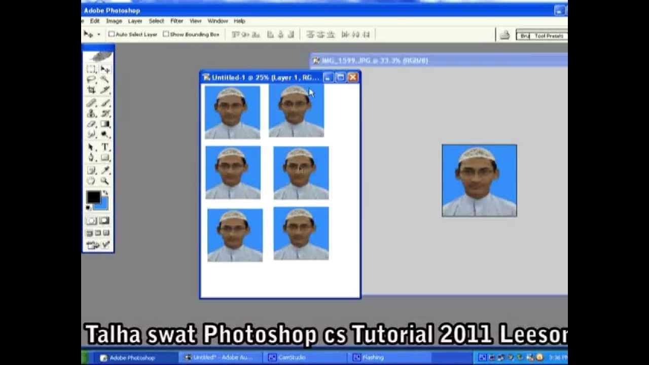 how to make create passport size photos in Photoshop Urdu tutorial ...