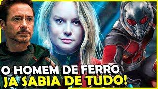 Homem de Ferro JA SABIA da Capitã Marvel, Homem-Formiga e Tesseract