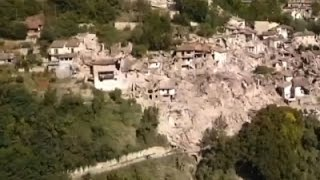Raw: Drone Footage Shows Italy Quake Damage