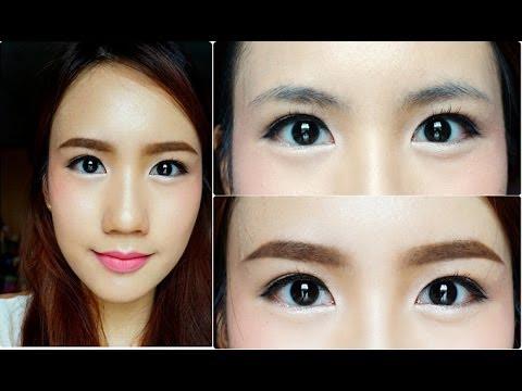 วิธีเขียนคิ้วสไตล์สาวเกาหลี Korean Style Eyebrows Tutorial By May R