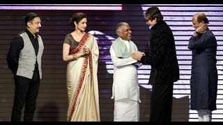 Ilayaraja honoured by Amitabh, Rajini and Kamal on completing 1000 films | Shamitabh Audio Launch