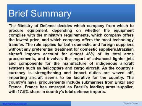 Future of the Brazilian Defense Industry  - Reports Corner