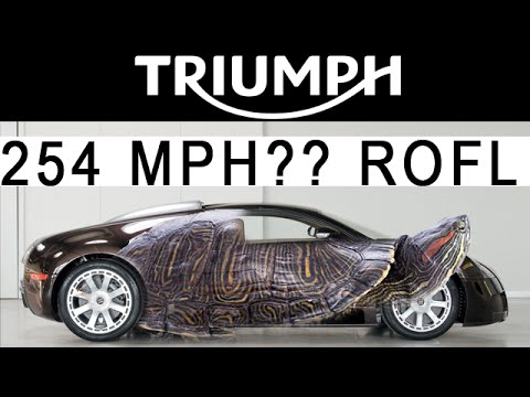triumph motorcycle to humiliate bugatti veyron 254 mph lol try 400 mph youtube. Black Bedroom Furniture Sets. Home Design Ideas