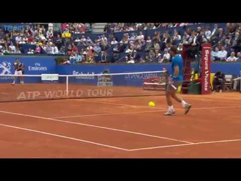 Nicolas Almagro Clips Hot Shot As He Beats Nadal in Barcelona
