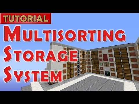 Minecraft Tutorial: Automated Storage System with Multi-Item Sorting