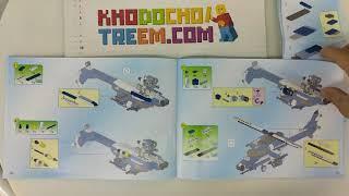 Hướng dẫn lắp ráp Enlighten 1801 Lego Military Army MOC Storm Armed Helicopter giá sốc rẻ nhất